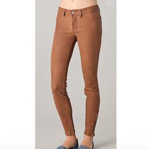 J Brand Nude/Tan Super Skinny Leather Pants 27